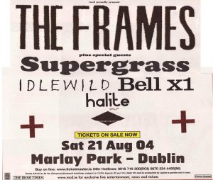 August 21 – The Frames Headline Marlay Park in Dublin