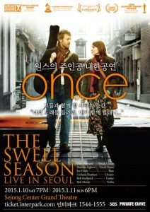 January 10 & 11 – The Swell Season Performs In Korea